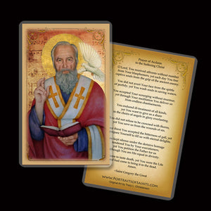 St. Gregory the Great Holy Card