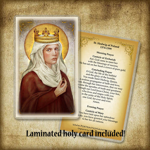 St. Hedwig of Poland Pendant & Holy Card Gift Set