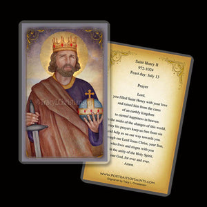 St. King Henry II Holy Card