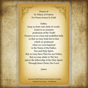 St. Hilary of Poitiers Holy Card