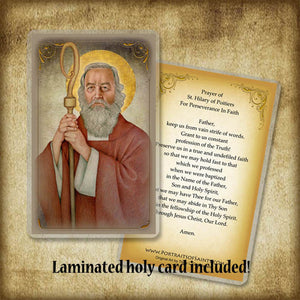 St. Hilary of Poitiers Plaque & Holy Card Gift Set