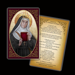 St. Hildegard of Bingen Holy Card