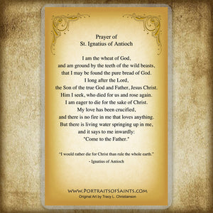 St. Ignatius of Antioch Holy Card
