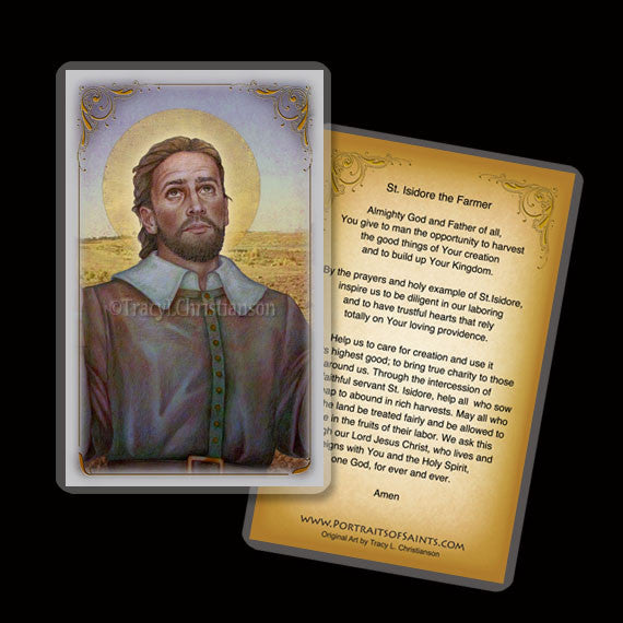 St. Isidore the Farmer Holy Card
