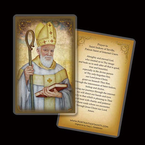 St. Isidore of Seville Holy Card