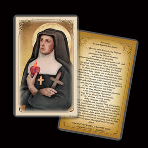 St. Jane de Chantal Holy Card