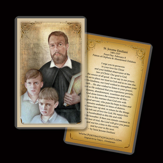 St. Jerome Emiliani Holy Card