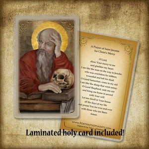St. Jerome Plaque & Holy Card Gift Set