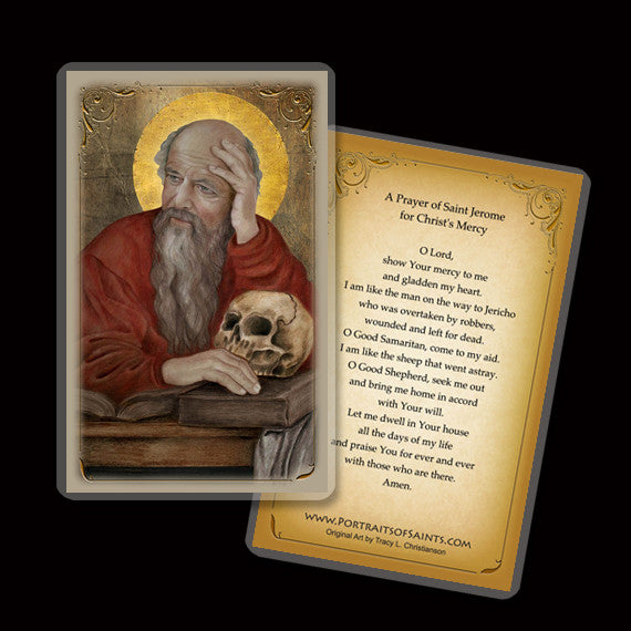 St. Jerome Holy Card