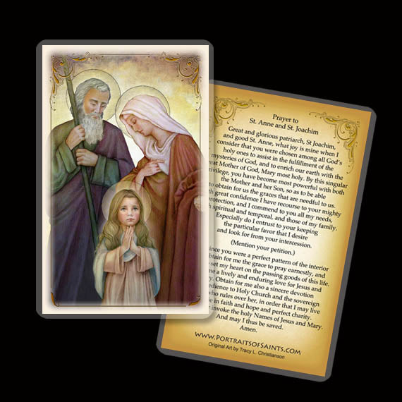 St. Joachim and St. Anne with the Child Mary Holy Card