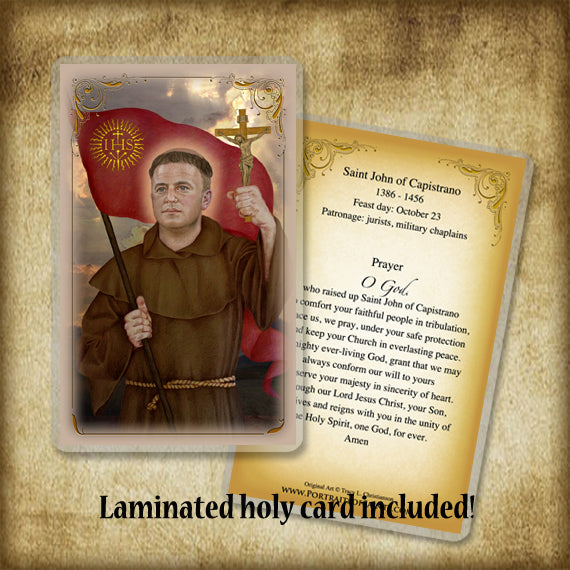 St. John of Capistrano Plaque & Holy Card Gift Set
