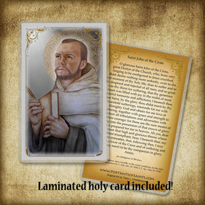 St. John of the Cross Plaque & Holy Card Gift Set