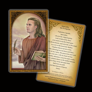 St. John the Evangelist Holy Card