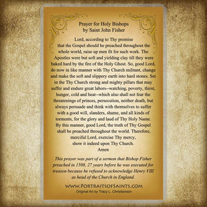St. John Fisher Holy Card