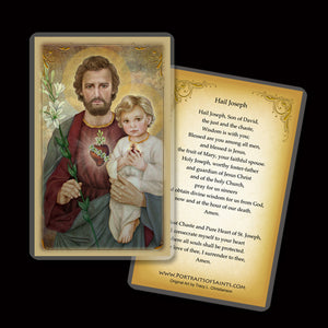 St. Joseph, The Most Chaste Heart, Holy Card
