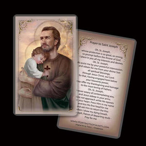 St. Joseph and Baby Jesus Holy Card