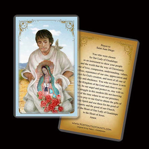 St. Juan Diego Holy Card