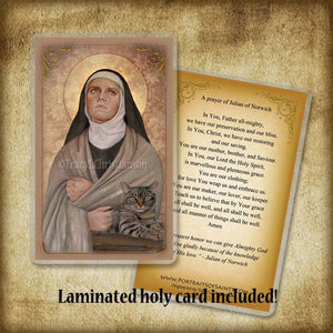 St. Julian of Norwich Plaque & Holy Card Gift Set