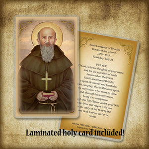 St. Lawrence of Brindisi Plaque & Holy Card Gift Set
