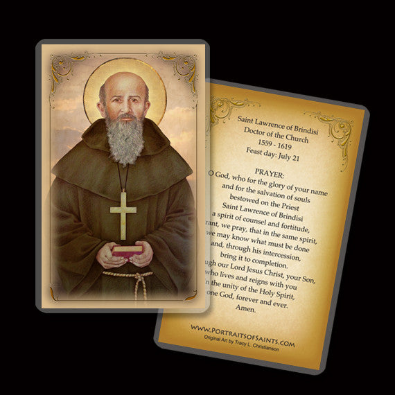 St. Lawrence of Brindisi Holy Card