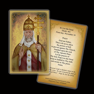 St. Leo the Great Holy Card