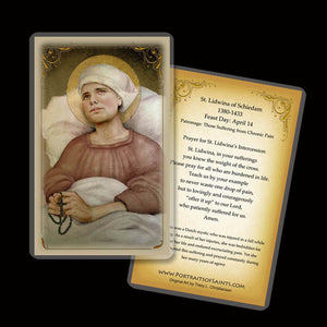 St. Lidwina of Schiedam Holy Card
