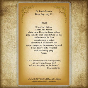 St. Louis Martin Holy Card