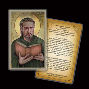 St. Luke the Evangelist Holy Card