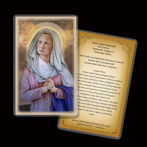 St. Lydia Purpuraria Holy Card