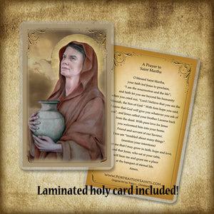 St. Martha of Bethany Plaque & Holy Card Gift Set