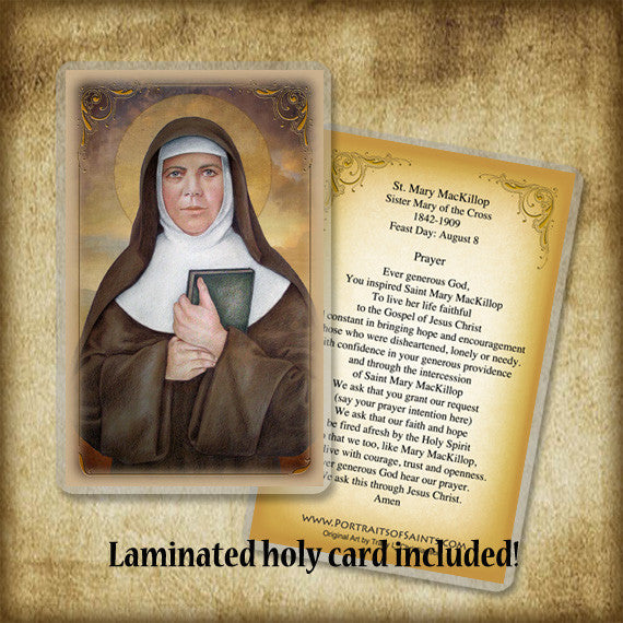 St. Mary MacKillop Plaque & Holy Card Gift Set