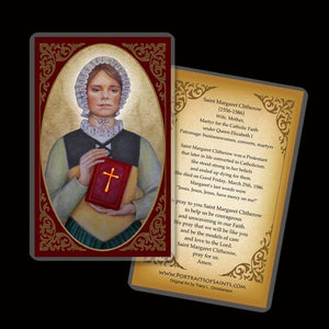 St. Margaret Clitherow Holy Card