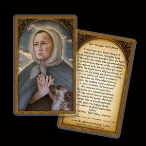 St. Margaret of Cortona Holy Card