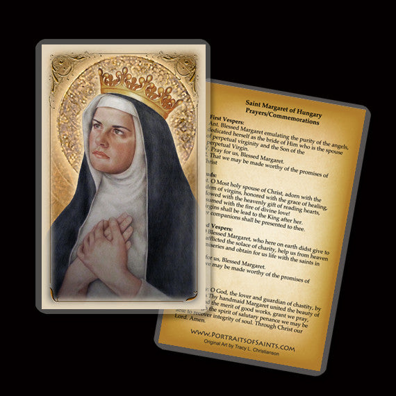 St. Margaret of Hungary Holy Card