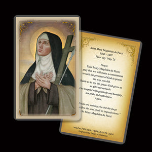 St. Mary Magdalen de Pazzi Holy Card