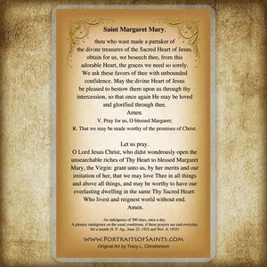St. Margaret Mary Alacoque Holy Card