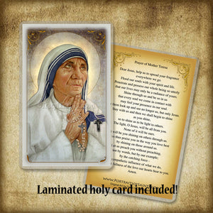 St. Mother Teresa of Calcutta (B) Plaque & Holy Card Gift Set