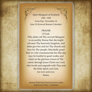St. Margaret of Scotland Holy Card