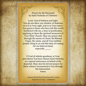 St. Nicholas of Tolentino Holy Card