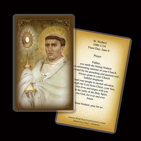 St. Norbert Holy Card