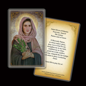 St. Olivia Holy Card