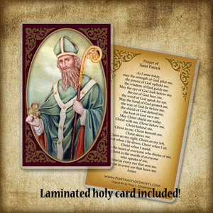 St. Patrick (A) Plaque & Holy Card Gift Set