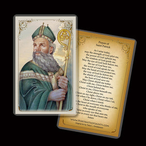 St. Patrick (B) Holy Card