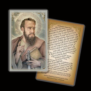 St. Paul the Apostle Holy Card