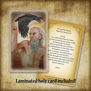 St. Paul the Hermit Plaque & Holy Card Gift Set