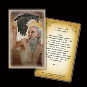 St. Paul the Hermit Holy Card
