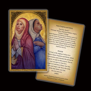 St. Perpetua and St. Felicity Holy Card