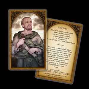 St. Peter the Apostle Holy Card
