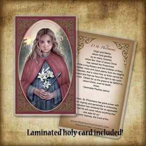 St. Philomena Plaque & Holy Card Gift Set