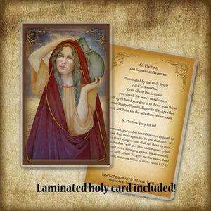 St. Photina Plaque & Holy Card Gift Set